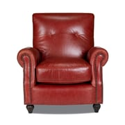 Opulence Home Benjamin Leather Press Back Arm Chair; Bolero Cherry
