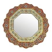 Novica Star Wall Mirror; Red