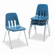 Virco 9000 Series 18'' Plastic Classroom Chair  (Set of 4); Navy
