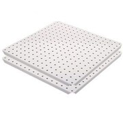 Alligator Board Metal Pegboard Panels w/ Flange in White