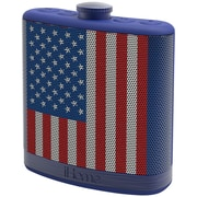 IHOME IHMIBT12AMFLXC Rechargeable Flask-Shaped Bluetooth  Stereo Speaker with Custom Sound Case, Flag