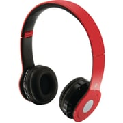 iLive GPXIAHB16R Over-Ear Wireless Headset with Microphone, Red