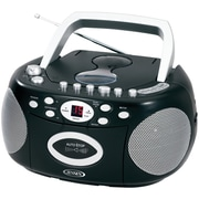 Jensen JENCD540R Refurbished Portable Stereo CD Player with Cassette and AM/FM Radio