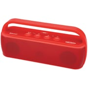 Jensen JENSMPS627R Bluetooth  Portable Stereo Speaker, Red