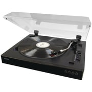 JENSEN Professional 3-Speed Stereo Turntable with Speed Adjustment (JENJTA470)