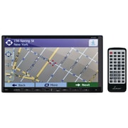 "LANZAR 7""W Double-Din In-Dash Motorized Fold-Down Touchscreen Navigation DVD Receiver with Bluetooth  and Built-In GPS"