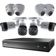 LOREX LORLHV00161TPM 6-Channel MPX HD DVR with 1TB and 8 720p Cameras, 4 Bullet/4 Dome