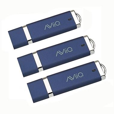 AViiQ 8GB USB 2.0 Flash Drive, Blue, 3/Pack