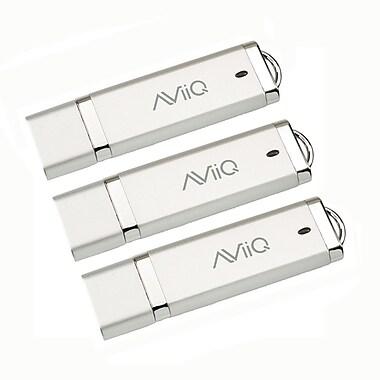 AViiQ 16GB USB 2.0 Flash Drive, Sliver, 3/Pack