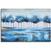 Omax Decor 'True Reflections' Painting on Canvas in Blue