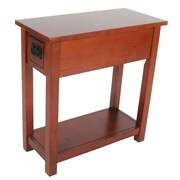 Alaterre Craftsman Chairside Table; Cherry