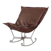 Howard Elliott Puff Scroll Avanti Rocking Chair; Pecan