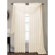 Window Elements Diamond Curtain Sheer Single Panel Scarf; Beige