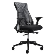 Silver Seating Sunny High-Back Mesh Conference Chair with Arms; Black