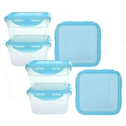Lock & Lock Square Storage with Lid (Set of 6); Red