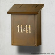 America's Finest Mailboxes Classic Vertical Mailbox; Old Brass