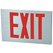Morris Products Cast Aluminum Extra Face Plate LED Exit Sign with Red Lettering and Aluminum Face