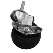 Thunder Group Inc. Rubber Wheel Caster with Brake; 2.17'' H x 3.57'' W x 5.24'' D