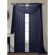 Window Elements Diamond Curtain Sheer Single Panel Scarf; Indigo