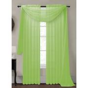 Window Elements Diamond Curtain Sheer Single Panel Scarf; Lime