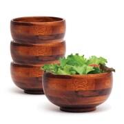 Lipper Rice Bowl Set, Cherry Finished, 6/Set (223/4)