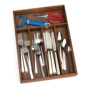Lipper Acacia Flatware Organizer, 5 Compartments (1076)