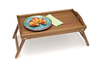 Lipper Acacia Bed Tray with Folding Legs 1968917
