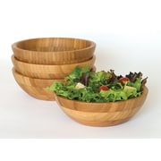 Lipper Bamboo Salad Bowl with Servers 3-Piece Set
