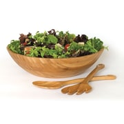 Lipper Bamboo Large Salad Bowl with Servers, 3/Set (8204-3)
