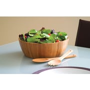 Lipper Bamboo Salad Bowl with Servers, 3 Pieces/Set (8208-3)