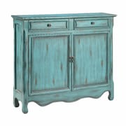 Stein World Cupboard 2 Drawer and 2 Door Cabinet; Distressed Catalina Blue