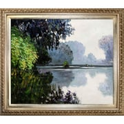 Tori Home Morning on the Seine Near Giverny by Monet Framed Hand Painted Oil on Canvas