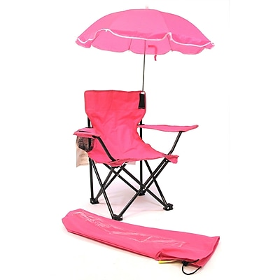 Redmon for Kids Kids Camp Chair; Hot Pink