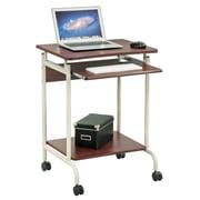 Merax Modern Computer Cart; Cherry