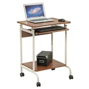 Merax Modern Computer Cart; Walnut