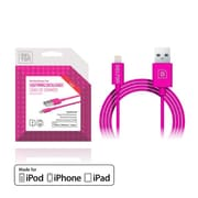 Delton 4 FT Lighting to USB Sync and Charge Cable Pink