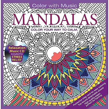 Color With Music – Livre à colorier pour adultes, Mandalas, musique de The Mystic Sea, 48 images