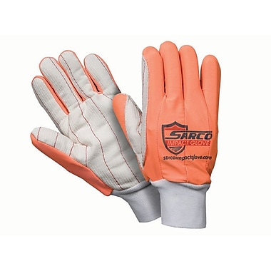Northern Gloves Sarco Impact Protection Gloves, Red with Corded Palm