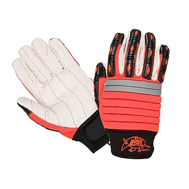 Northern Gloves Arma Tuff Mechanics Gloves, Red with Poly Corded Double Palm