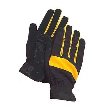 Northern Gloves Light Duty Mechanics Glove, XL, Black/Yellow Synthetic