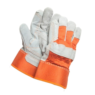 Northern Gloves Ladies General Purpose Split Leather Palm Gloves, Small, Natural Leather