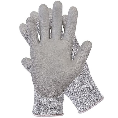 Northern Gloves Knit Cut Resistant Level 5 Glove, XL, Salt and Pepper Dyneema, Polyurethane Palm