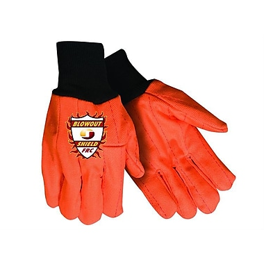 Northern Gloves Heavy Weight Flame Retardant Blowout Shield Gloves, Large, Florescent Orange