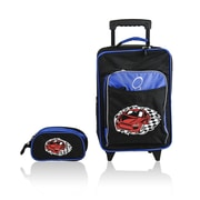 Obersee O3 Kids Racecar Luggage and Toiletry Bag Set