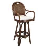 Hospitality Rattan Classic 24'' Swivel Bar Stool with Cushion; Everglades Paramount Spice