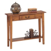 Wildon Home   Traditional Console Table; Chestnut