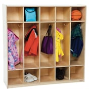Wood Designs 1 Tier 5-Section Locker; Natural