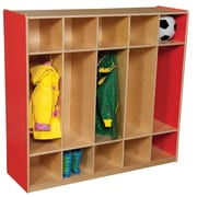 Wood Designs 1 Tier 5-Section Locker; Strawberry Red