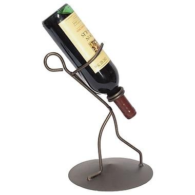 Metrotex Designs Borracho 1 Bottle Tabletop Wine Rack; Meteor