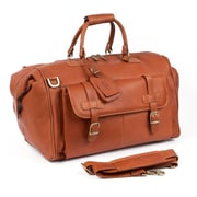 Claire Chase Millionaire's 24'' Leather Carry-On Duffel; Saddle